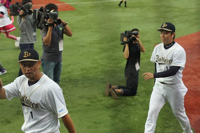 中島選手、松葉選手