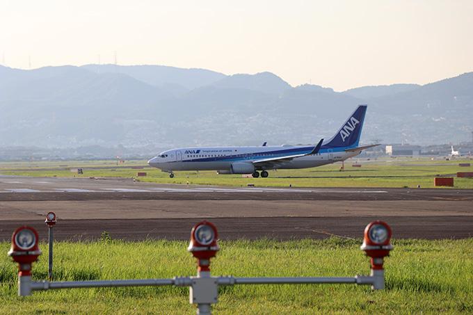 千里川土手からの飛行機撮影