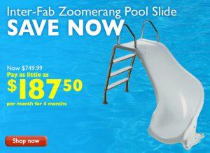 プールに設置するスライダーの商品